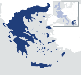 Greece and Western Europe map